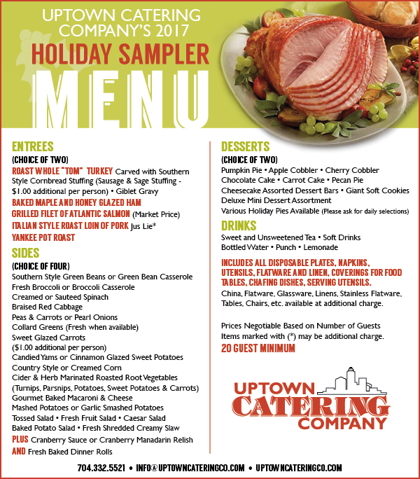 Menus Uptown Catering Company